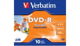Verbatim Jewel Case Printable DVD-R