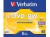 Verbatim Matt Silver Jewel Case DVD+ RW