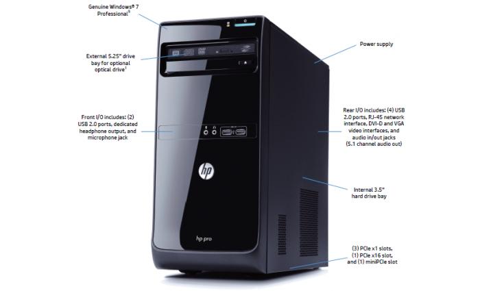 HP PRO 3500 DESKTOP PC - INTEL Core-i3 CPU ONLY : Zimall
