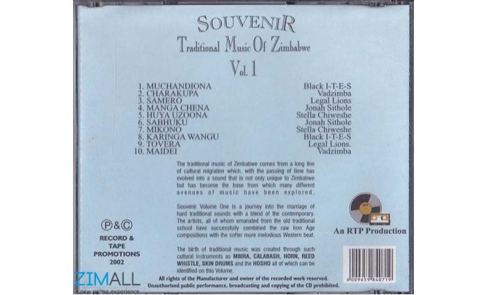 Souvenir Traditional Music Of Zimbabwe Vol 1 Music World Zimall