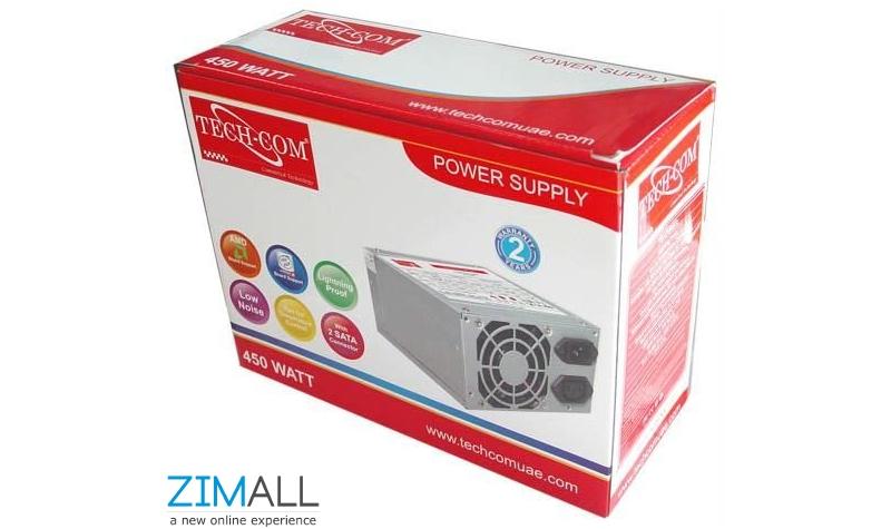 Techcom 450W 24 Pin Power Supply