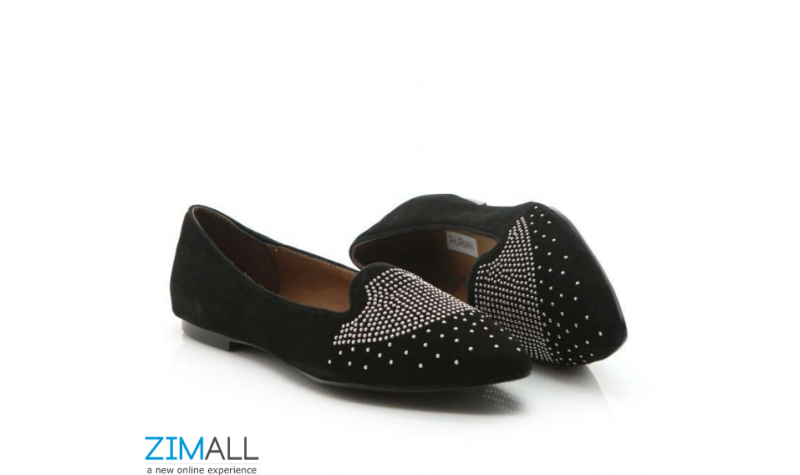 Studded Insole Leather Pumps