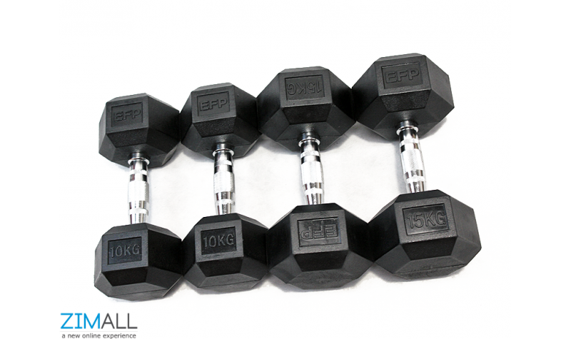 Hex Dumbbell from 2 KG- Single Dumbbell