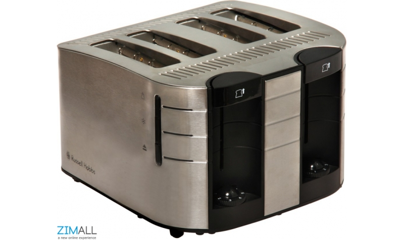 Russell Hobbs Brushed Stainless Steel 4 Slice Satin Toaster