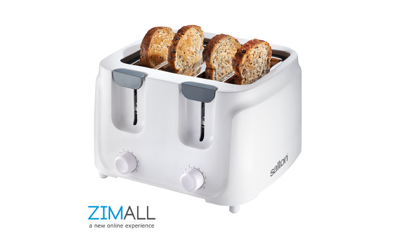 Salton White Cool Touch Four Slice Toaster