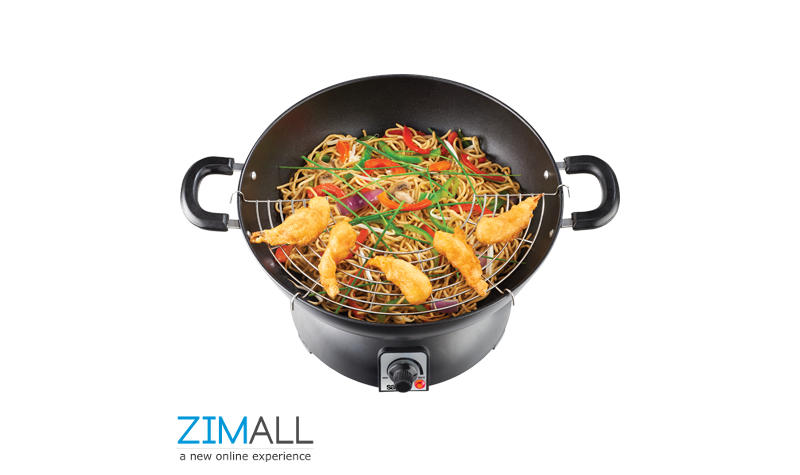 Salton 3.5L Wok and Hotplate Duo SWH10