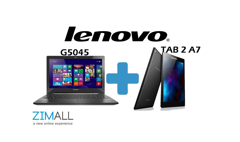 Lenovo G5045 Laptop plus Lenovo Tab 2 A7
