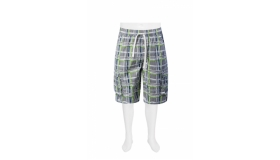 RED Check Cargo Shorts
