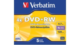 Verbatim Matt Silver Jewel Case DVD+ RW