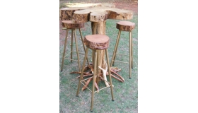 Jacaranda Bar Table 4 Stools