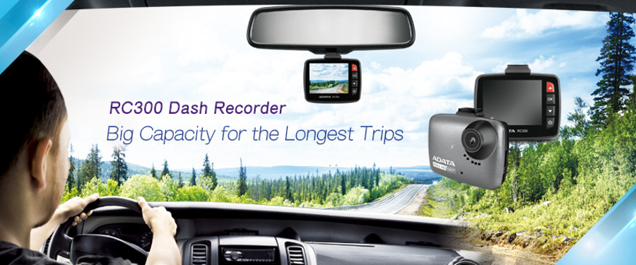 The Adata RC300 dash recorder uses advanced optics and sensors to provide accurate and responsive road recording with wide 140-degree viewing angle to cover more of the road.