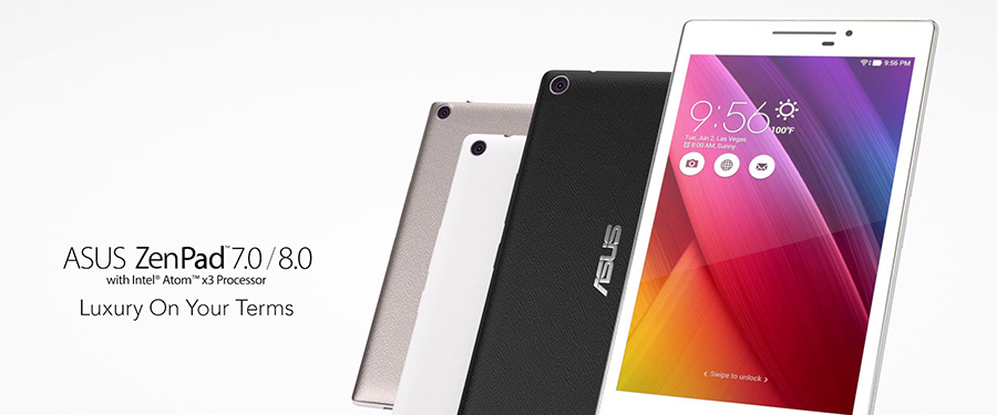 The design of ASUS ZenPad carries modern influences and a simple, clean look that gives it a universal and stylish appeal.
